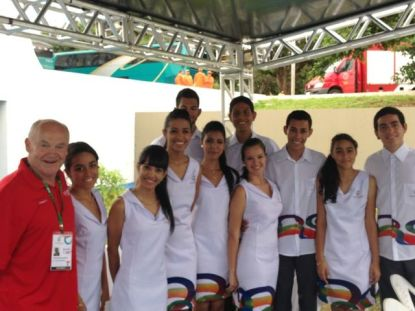 ISF Gymnasiade presentation volunteers